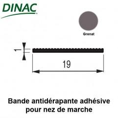 Bande antidérapante adhésive grenat 19 mm pour nez de marche 6B