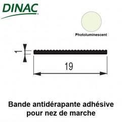 Bande antidérapante adhésive photoluminescent 19 mm pour nez de marche 6B