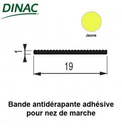 Bande antidérapante adhésive jaune 19 mm pour nez de marche 6B
