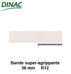 Bande super agrippante adhésive photoluminescente 36 mm