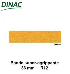 Bande super agrippante adhésive jaune 36 mm