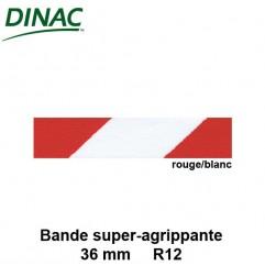 Bande super agrippante adhésive rouge/blanc 36 mm