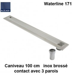 Caniveau de douche inox 1000 mm Waterline type 171