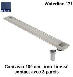 Caniveau de douche inox 1000 mm Waterline type 171