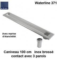 Caniveau de douche inox 1000 mm Waterline type 371 avec reprise d'étanchéité