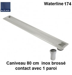 Caniveau de douche inox 800 mm Waterline type 174