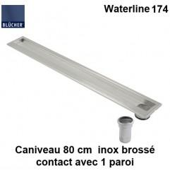Caniveau de douche inox 800 mm Waterline type 174