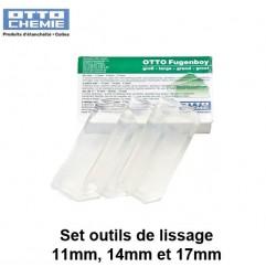Set outils de lissage Fugenboy grand 11mm, 14mm et 17 mm