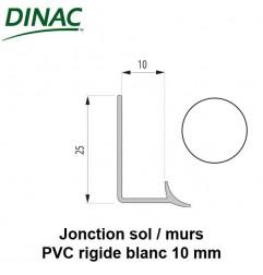Joint de jonction sol/murs PVC rigide blanc 10 mm