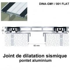 Joint de dilatation sismique DINA-GM1 /001 Flat pose encastrée. Hauteur 22 mm. Ouverture du joint 60 mm