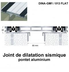 Joint de dilatation sismique DINA-GM1 /013 Flat pose encastrée. Hauteur 22 mm. Ouverture du joint 80 mm