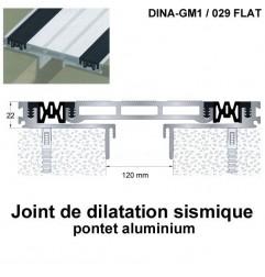 Joint de dilatation sismique DINA-GM1 /029 Flat pose encastrée. Hauteur 22 mm. Ouverture du joint 120 mm