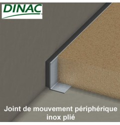 Joint de mouvement périphérique inox plié MJO-SS 6 mm