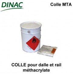 Colle MTA pour fixation rail et dalles méthacrylate bidon 8 kg