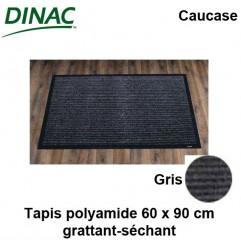 Tapis grattant-séchant Caucase gris 60 x 90 cm