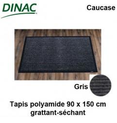 Tapis grattant-séchant Caucase gris 90 x 150 cm