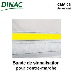 Bande adhésive de signalisation pour contre-marche CMA 08 jaune uni