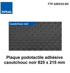 Plaque podotactile autocollante caoutchouc noire 825 x 415 mm