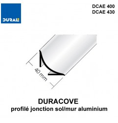 Profilé jonction sol/mur DURACOVE aluminium anodisé argent