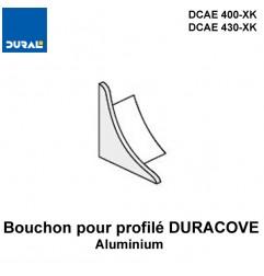 Bouchon pour profilé DURACOVE aluminium anodisé argent