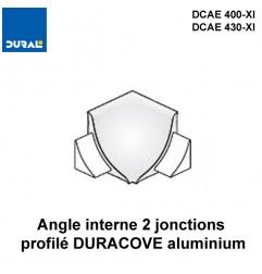 Angle interne 2 jonctions DURACOVE aluminium anodisé argent