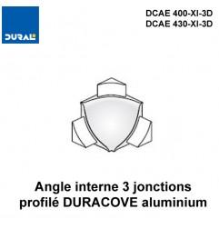 Angle interne 3 jonctions DURACOVE aluminium anodisé argent
