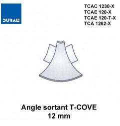 Angle sortant T-COVE 12 mm 2 jonctions aluminium argent brillant Sachet 2 pièces