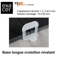 Base longue croisillon nivelant largeur 4 mm sachet 250 pièces