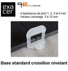 Base standard croisillon nivelant largeur 4 mm