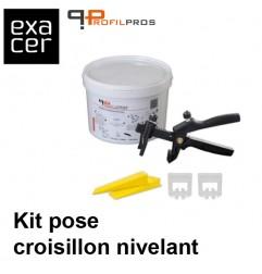 Kit de pose croisillon nivelant, joint largeur 1 mm