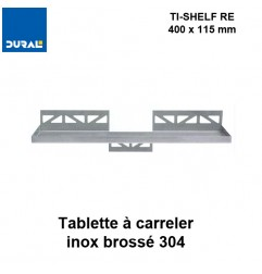 Tablette à carreler rectangulaire TI-SHELF TS RE 1130 400 x 115 mm