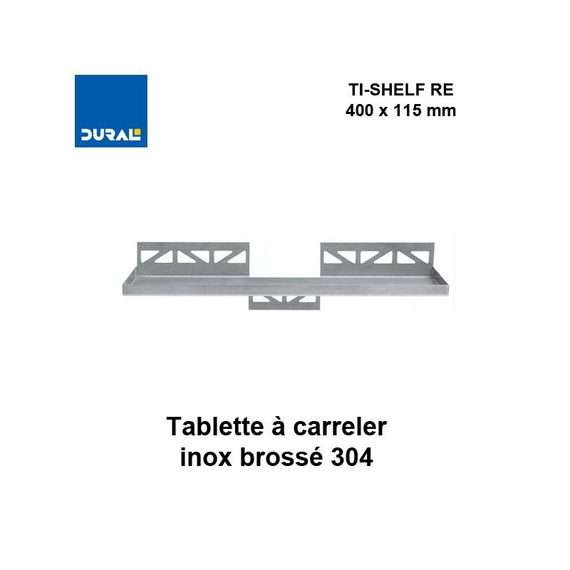 Tablette à carreler rectangulaire TI-SHELF TS RE 1130 400 x 115 mm