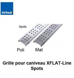 """Grille """"Spots"""" inox 304 mat pour caniveau XFLAT-LINE 55 cm"""
