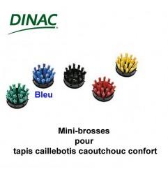 Mini brosses bleues pour caillebotis caoutchouc confort