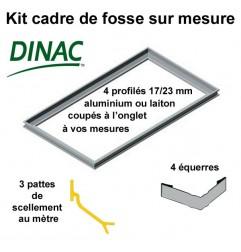 Kit cadre de fosse à sceller aluminium anodisé naturel réversible 17/23 mm