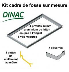Kit cadre de fosse à sceller aluminium brut 13 mm