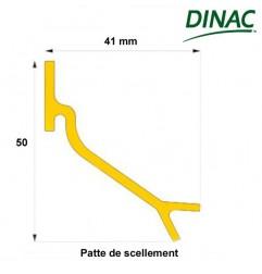 Patte de scellement pour cadre 13 mm et réversible 17/23 mm