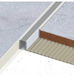 Joint de fractionnement PVC gris pour pose collée, sans semelle. Hauteur 13.5 mm