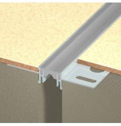 Joint de dilatation DINA-PES 1/250 Flat pour pose collée charge légère et moyenne. Hauteur 8.5 ou 15.5 mm