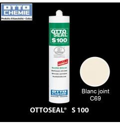 OTTOSEAL S100 C69 mastic silicone premium blanc joint